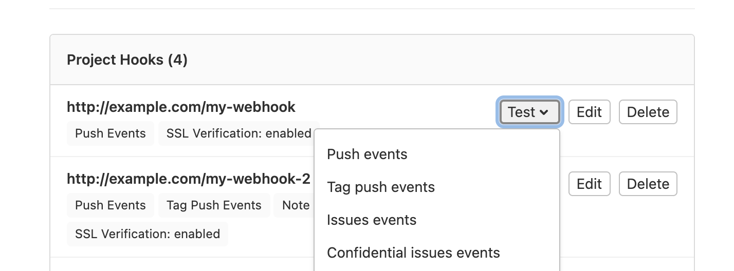 Webhooks Gitlab