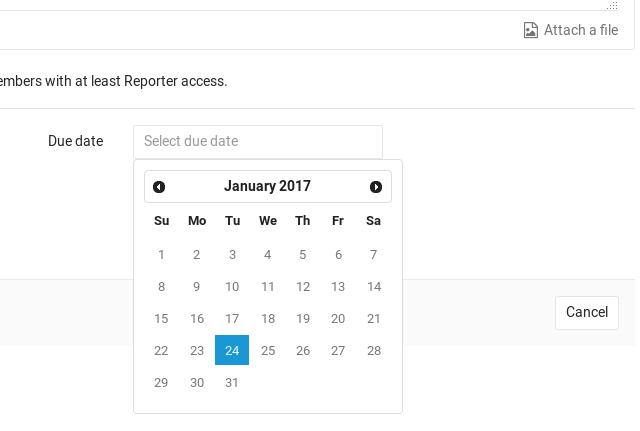 Due dates | GitLab